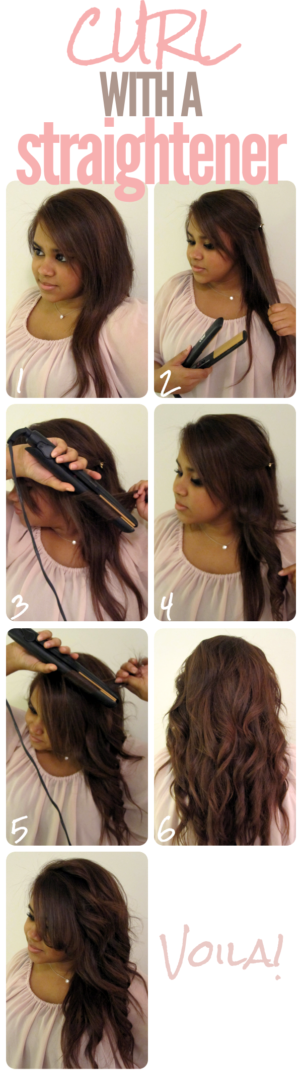 How To Curl Your Hair With Your Straighteners | Bridget Of The North