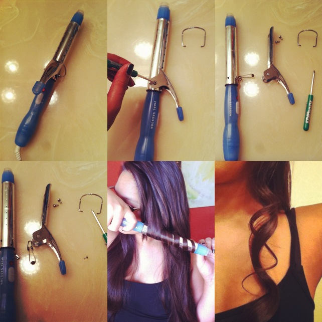 How To Make Your Own Curling Wand From An Old Pair Of