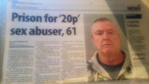 Brian Bennet, 61, Saltburn. 20p Sex Abuser. Report by Evening Gazzette
